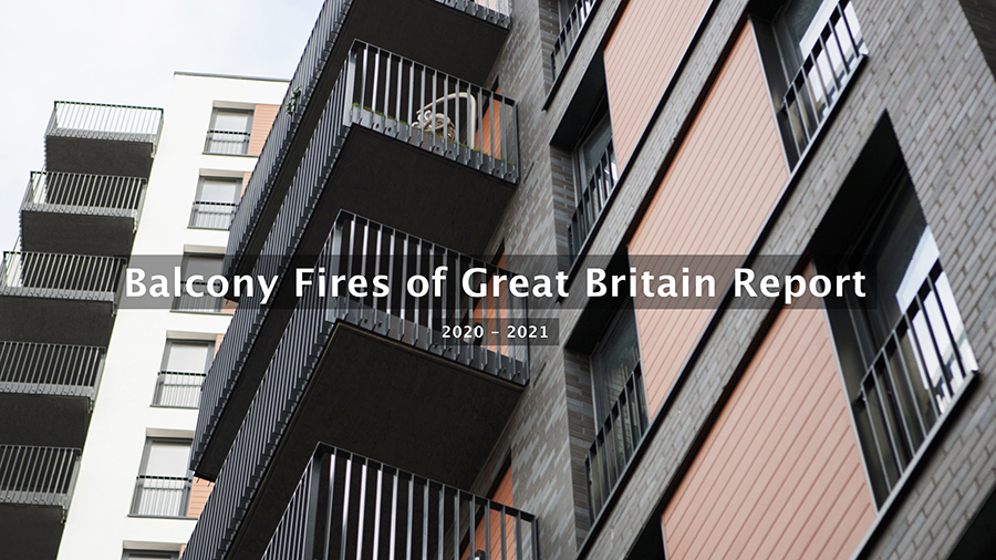 AliDeck publish Balcony Fires Report 2020 - 2021 on prevalence and causes of fires on balconies across the UK